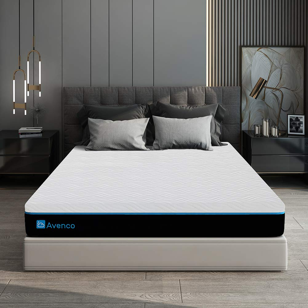 King Size Mattress, Avenco 10 Inch King Memory Foam Mattress in a Box, King Mattress with CertiPUR-US Foam for Supportive, PressureRelief & Cooler Sleeping, 10 Years Support