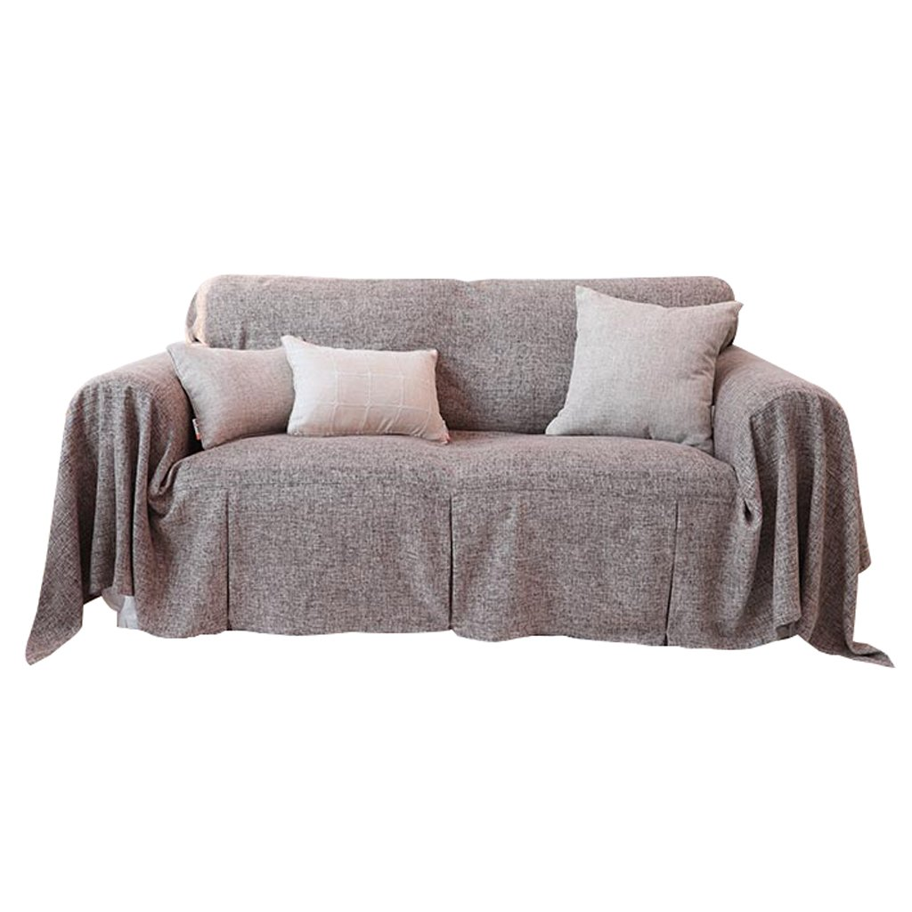 Sofa Towel Hemp Pure Color Thicken Sofa Cover Non-slip Sofa Cover Thicken Soft Easy Storage Full Cover Modern Simple Lightweight Elegant (Size : 200cm180cm)