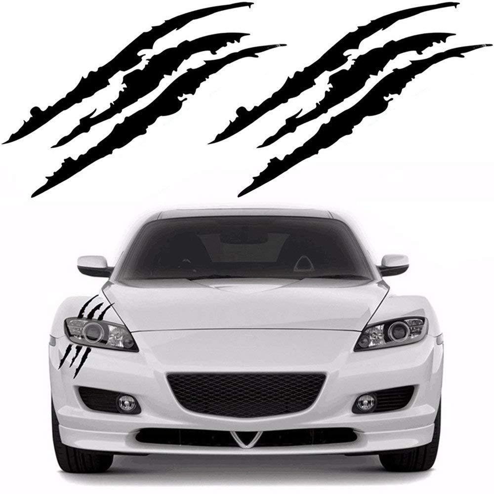 Fansport Claw Mark Sticker Car Sticker Reflective Sticker Decal for Vehicle Truck Window Bumper