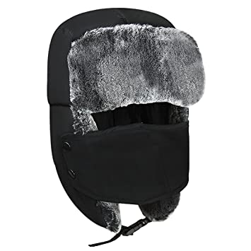 6c522f1c143 Kids Winter Skiing Balaclava Cap Snowboarding Aviator Trooper Trapper Bomber  Hat With Detachable Mouth Gauze Mask