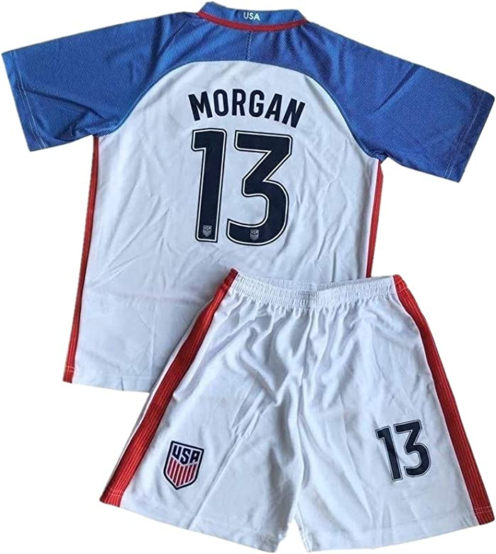 official photos 70afe d58fb Amazon.com: Wangound YIN 2016-2017 Alex Morgan #13 Home ...