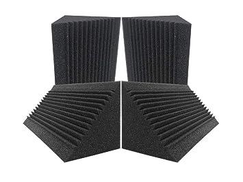 Acepunch 4 Tratamiento de aislamiento acústico de espuma acústica con trampa de graves de esquina multi-corte 12 x 12 x 24 cm AP1169: Amazon.es: ...