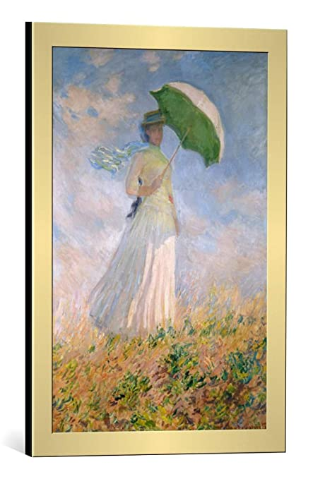Amazon Com Kunst Fur Alle Framed Art Print Claude Monet Frau Mit