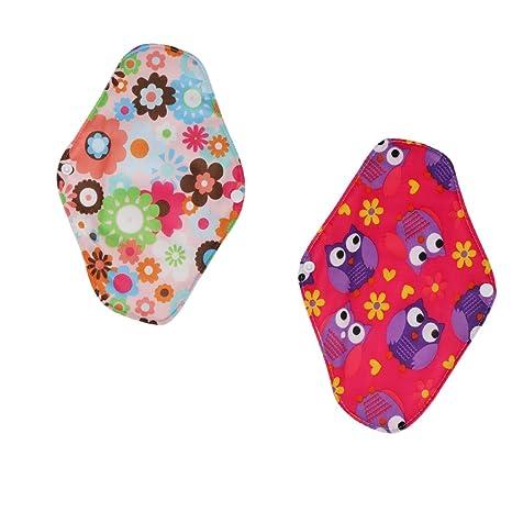Homyl 2 Piezas Toalla higiénica de Algodón para Mujeres de Multicolor Floral Suave