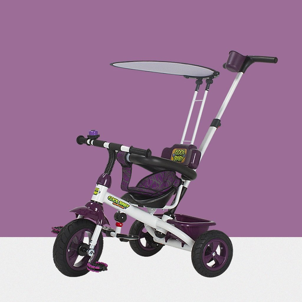 子供の三輪車1-6歳の赤ちゃんのバイク赤ちゃんのベビーカーキッズバイク Color*、緑/紫/色 )、75* 49* 94センチメートル ( Color : Purple ) B07C4MGGN6, UnDigital科学博物店:e14ee085 --- swot24.net