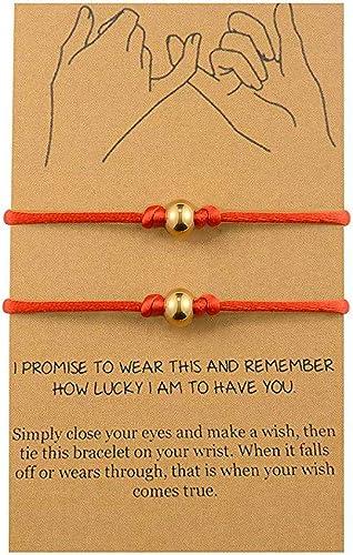 BOCHOI Pinky Promise Distance Matching Bracelets for 2 Couples Best Friend Friendship Adjustable Cord Relationship Bracelets Him Her Girlfriend Boyfriend Mother Daughter