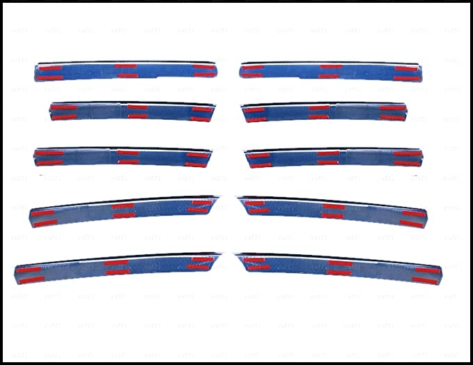 Chrome Parrilla delantera 10 piezas S.STEEL para VITO W638 de ...