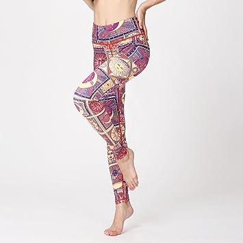 GUO Pantalones De Yoga para Mujer, Largos, Pantalones De ...