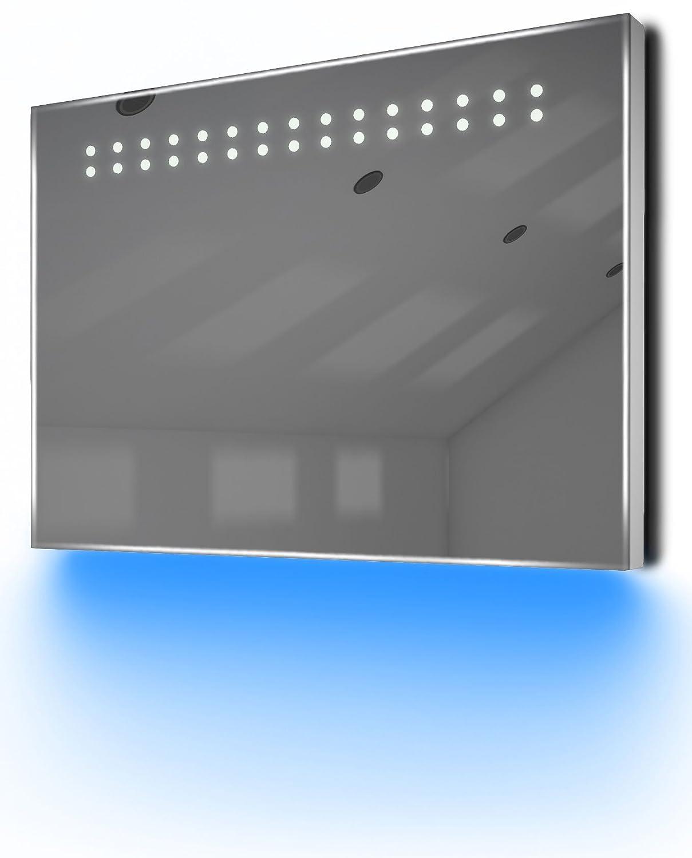 【現金特価】 Ambient超薄型LEDバスルームミラーwith Demisterパッド&センサーk12 Frame H:500mm x - W:700mm x D:30mm k12P White B00BBSBRX4 White Frame - Blue White Frame - Blue, こうちけん:c11cd8ce --- ciadaterra.com