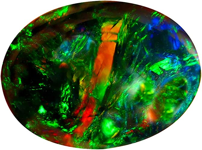 4X3 MM Oval Top Quality Natural Ethiopian Opal 10 Pic Play Of Color Cabochon Gemstone 1.15 Carat A++++