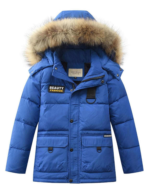 BELLOO Big Boy's Winter Puffer Down Jacket Coat with Hood