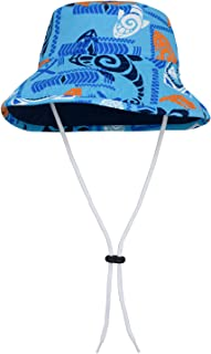Tuga Boys UV Reversible Bucket Hat 2-10 Years - UPF50+ Sun Protection (Royal/Navy, Leatherneck Blue, Loggerhead Red & Surf Blue)