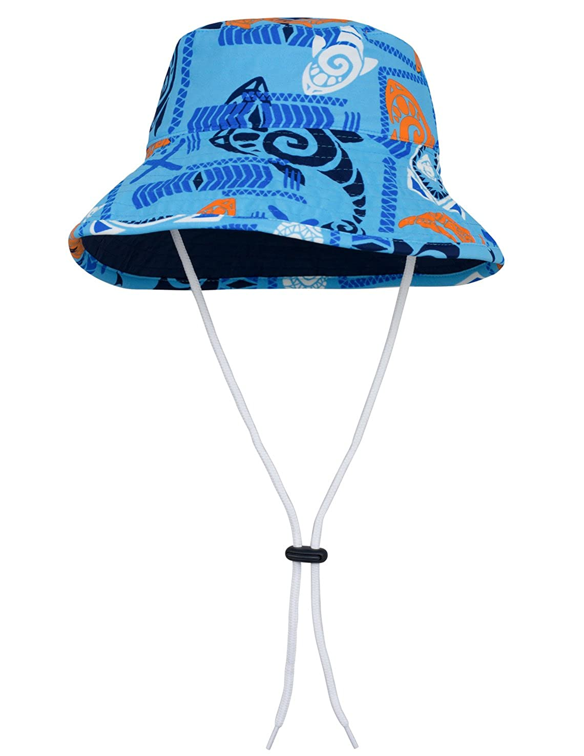 Tuga Boys UV Reversible Bucket Hat 2-10 Years - UPF50+ Sun Protection (Royal/Navy, Leatherneck Blue, Loggerhead Red & Surf Blue)