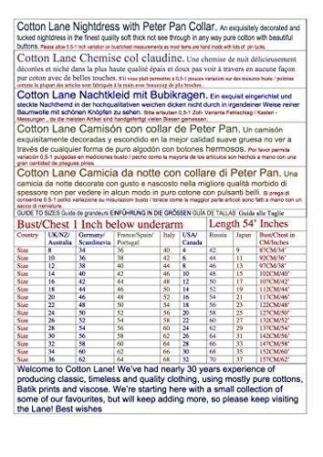 Cotton Lane - Chemise de nuit - Manches Longues - Femme