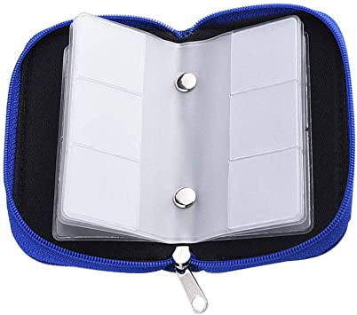 heliltd Estuche Portátil de 1 Tarjeta de Memoria con Cremallera, 22 Ranuras para Tarjetas SD SDHC MMC CF Micro SD (Azul): Amazon.es: Equipaje