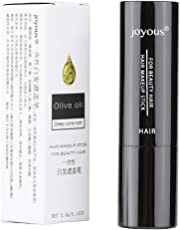 3Colors Hair Color Pen Temporary Lipstick Hair Dye Coloring White Hair Cover DIY Makeup Stick(Brown)