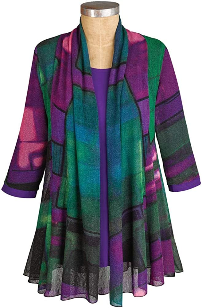 Adult Womens Size 1416 Extra Large Purple XL Cotton JACKET 46 chest Purple Violet Ombre Dyed Upcycled Venezia Cotton Trucker Jacket