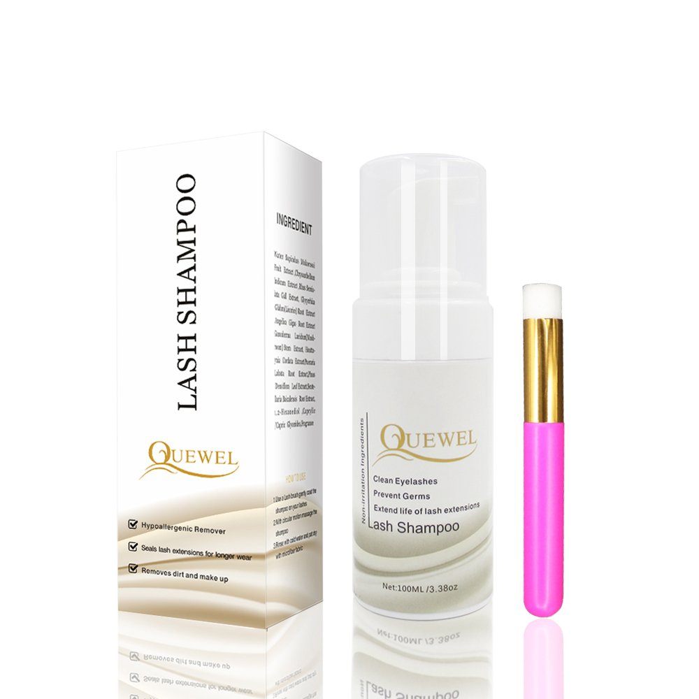 c61344a60c3 Amazon.com : Eyelash Extension Cleanser -Foaming 100 ML Eyelash  Shampoo/Wash Eyelash Extension Safe For Daily Use And Is Oil Free With Soft  Brush (Aloe with ...