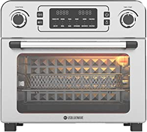 USBLUEWAVE 1700W 10-in-1 Large Digital Air Fryer Oven Convection Rotisserie Oven Toast/Bake/Broil/Roast/Dehydrate 24Qt (White)