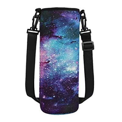 MELANIE'S POWER Water Bottle Carrier 17oz/25oz/34oz Wine Tea Bottle Sleeve Holder Sling Insulated Outdoor Sports Camping Travel Cross-Body Shoulder Bag Case Pouch Cover(L(for 34oz bottle) Galaxy): Kitchen & Dining