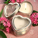 Light for Love Collection Heart Candle Favor Tins, 100