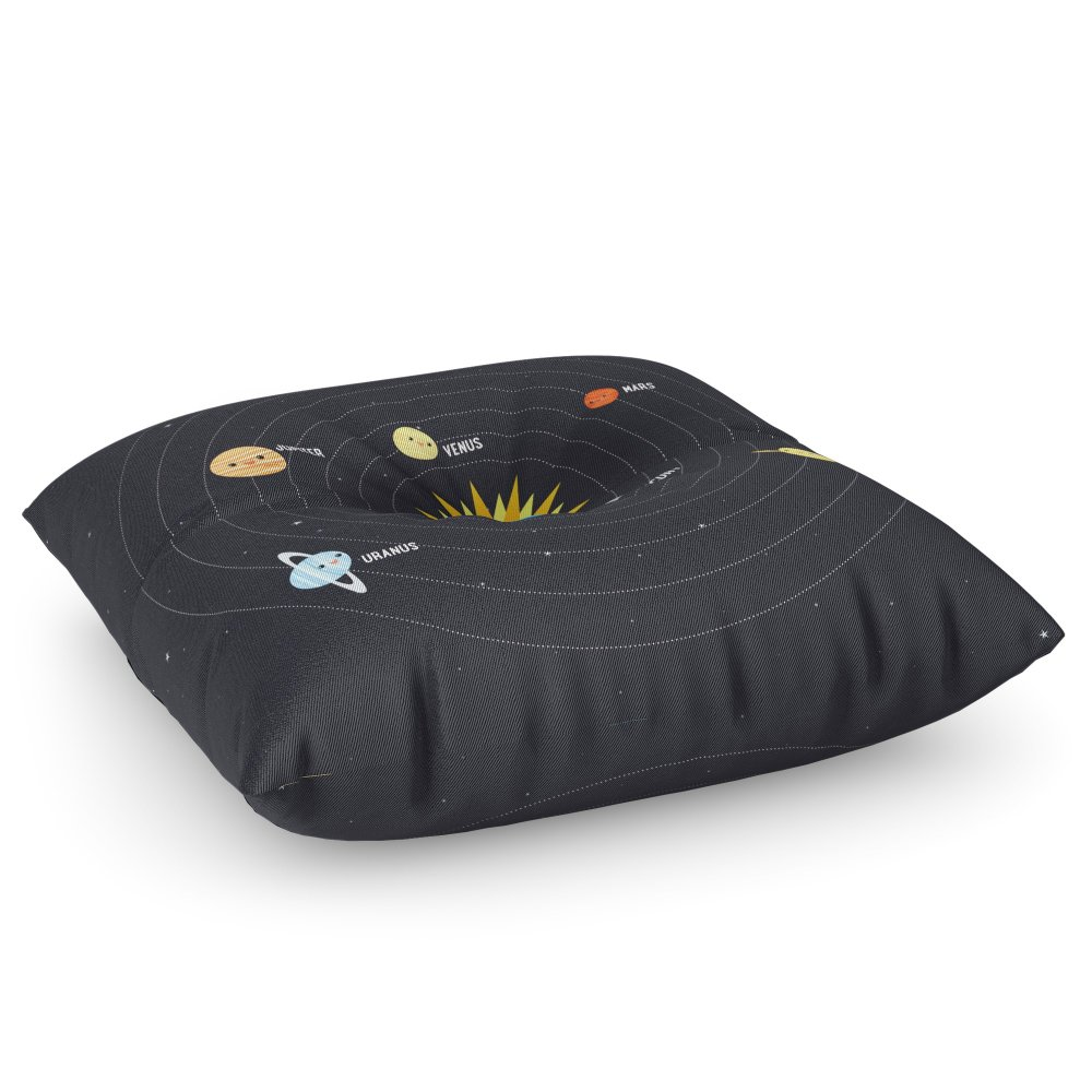 Society6 Solar System Floor Pillow Square 30'' x 30''
