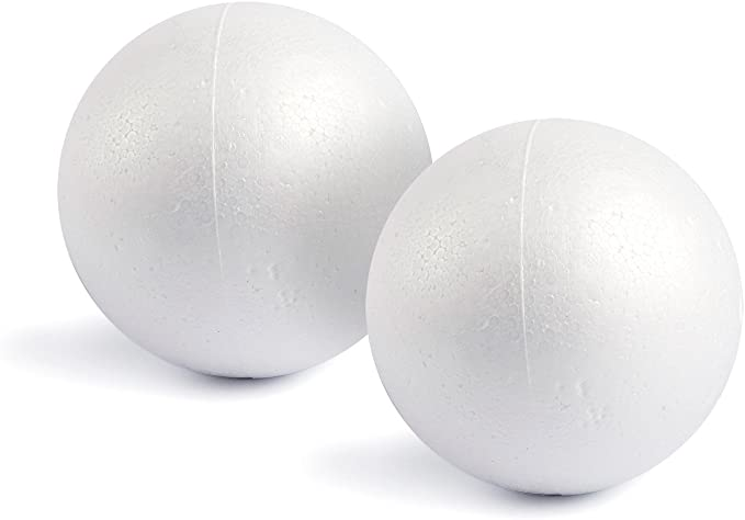 DIY Craft for Home White Polystyrene Smooth Round Balls 7 Sizes Including 1-4 Inches 130 Pack Craft Foam Balls Supplies School Craft Project and Holiday Party. Foam Balls for Arts and Crafts