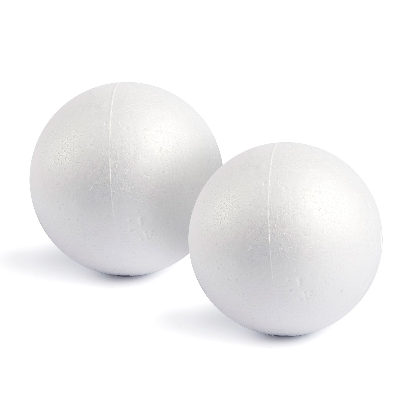 Craft Foam Balls - 2-Pack Large Smooth and Round Polystyrene Foam Balls for Art and Craft Use - Makes DIY Ornaments, Wedding Decor, Science Modeling, School Projects - White, 7.87 Inches in Diameter Juvale
