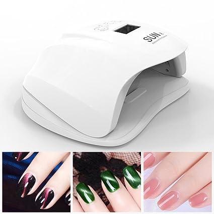 Lámpara de uñas 54W UV LED Secador de uñas Gel Sensor automático de lámpara de uñas, ...