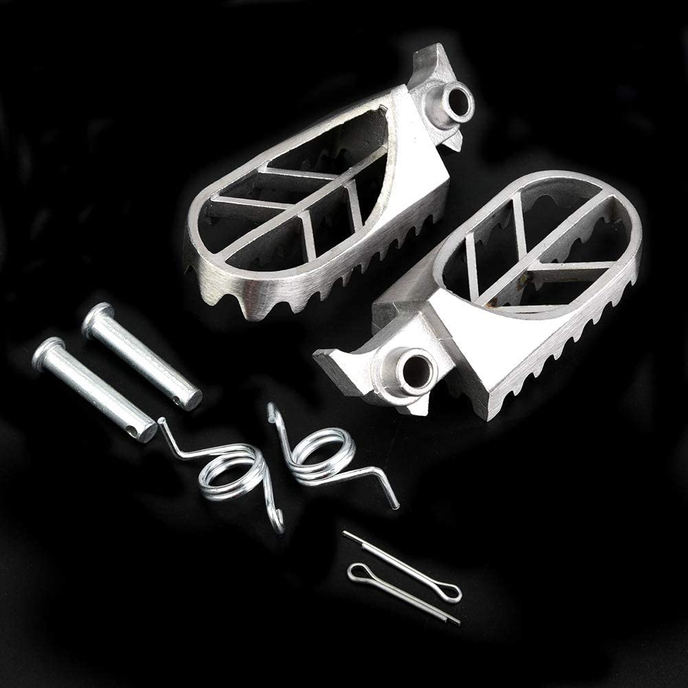 Duokon 2Pcs Stainless Steel Motorcycle Foot Pegs Pedal Driver Footboard for YZ85 YZ125 YZ250 YZ450 FWR250F