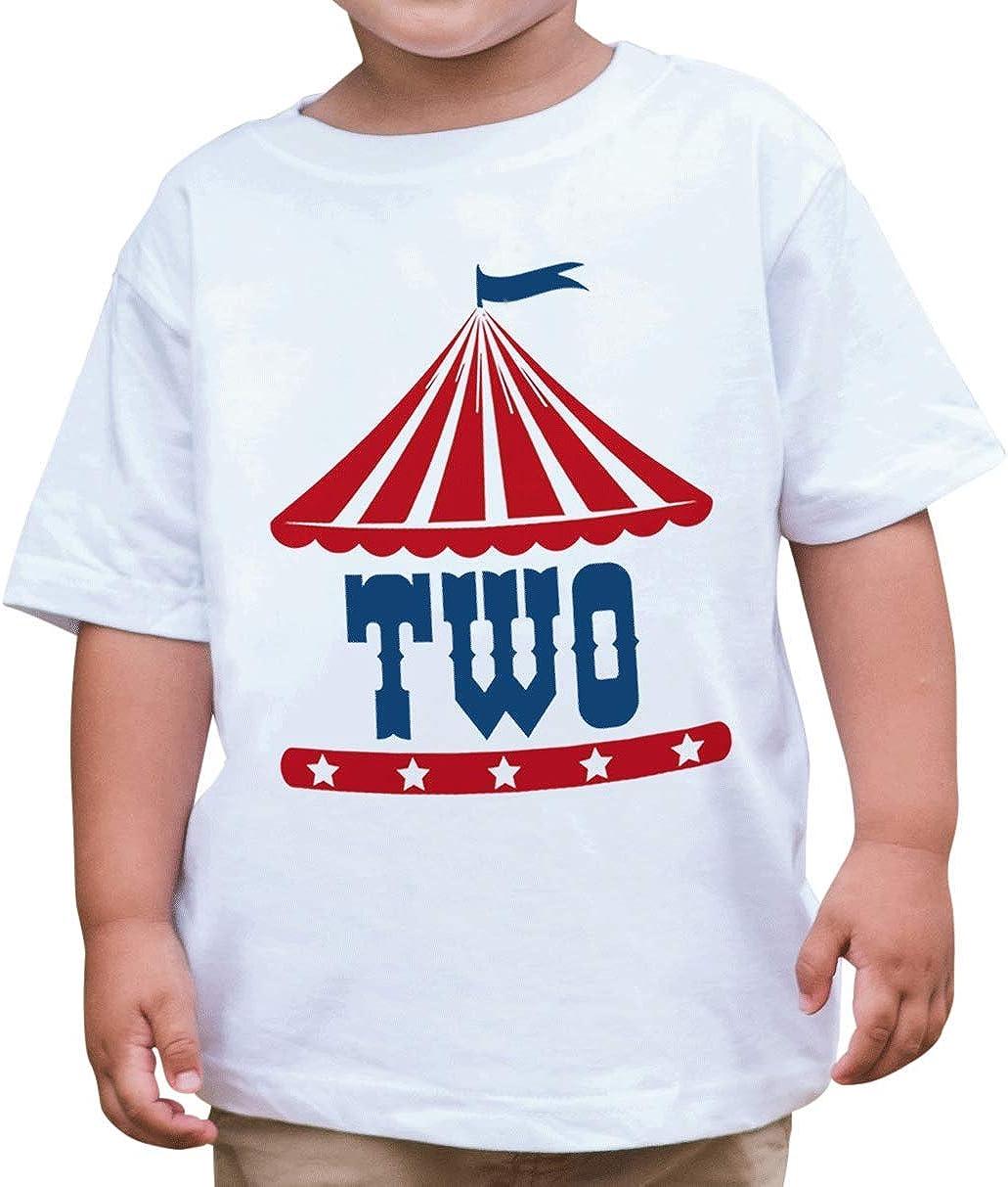 7 ate 9 Apparel Boys Birthday Two Circus T-Shirt