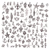 TR.OD Wholesale 100 Pieces Mixed Sea Animals Charms Pendants DIY for Jewelry Making and Crafting