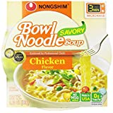 Nongshim Savory Chicken Noodle Bowl, 3.03 Ounce (Pack of 12)