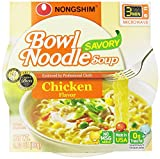 NongShim Bowl Noodle Soup, Chicken, 3.03 Ounce (Pack of 6)