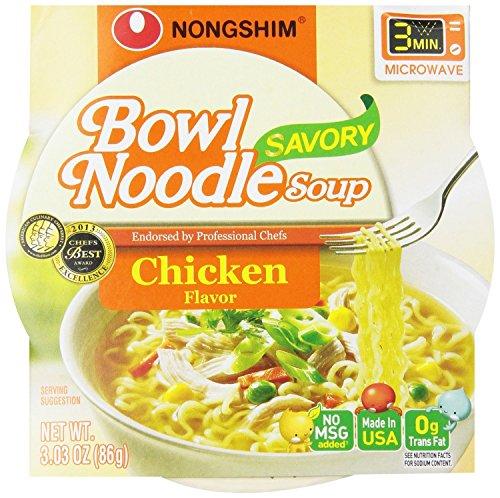 Nongshim Bowl Noodle Soup, Chicken, 3.03 Ounce (Pack of (Noodle Bowl)