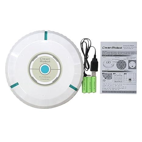 Swiftswan Home Aspirador Automático Inteligente Limpieza de Suelos Robot Limpiador Automático de aspiración Polvo de Pelo