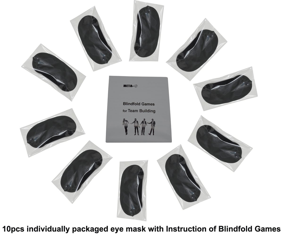 0d6a0a1bf Amazon.com  Meta-U- 10 Pcs Wholesale Eye Mask with Instruction of Blindfold  Games- Lightweight and Soft-Group Activity Organizer s Best Choice (Packed  ...