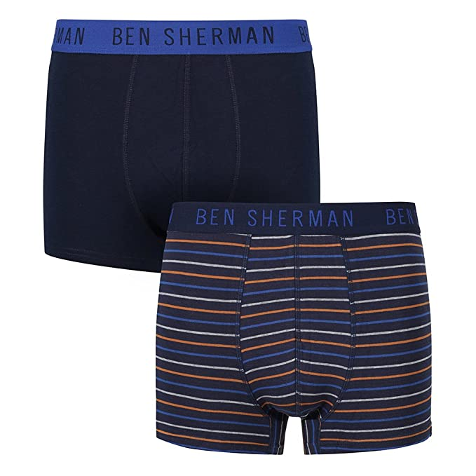 Ben Sherman Bóxers ajustados Santiago - High-End Trunks in a Pack of