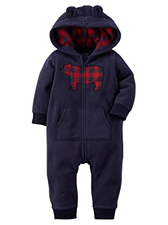 f1b383ec5 Amazon.com  Carters Infant Boys Blue Bear Themed Hooded Fleece ...
