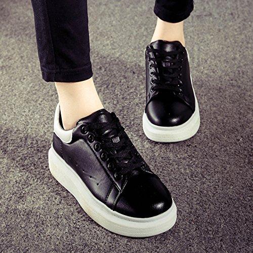 La Sra versión coreana de los zapatos de los deportes de fondo pesado/Los estudiantes se deslizan los zapatos/escogen los zapatos de las mujeres A