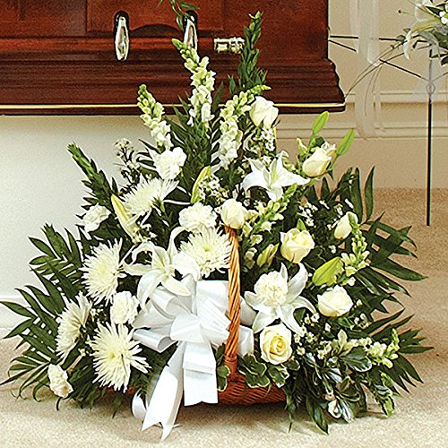 PlantShed - Thoughts and Prayers Fireside Basket - Flower Hand Delivery in NYC Local Manhattan Florist