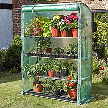 garden mile/® Large Garden Greenhouse Grow House GroZone Wide Plant Protection Cover Outdoor Heavy Duty Walk-In Poly tunnel Greenhouse GroZone