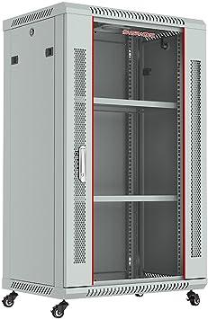 PDU Fan 2 Shelves Casters Sysracks 18U Wall Mount Server Rack Network Enclosure Cabinet 19 inch Av Equipment Data Network Enclosure Locking 2 Dust Tight Cable Entries Wheel