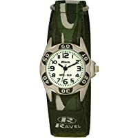 Ravel Glow in the Dark Children's Army Watch with Action Secure Strap