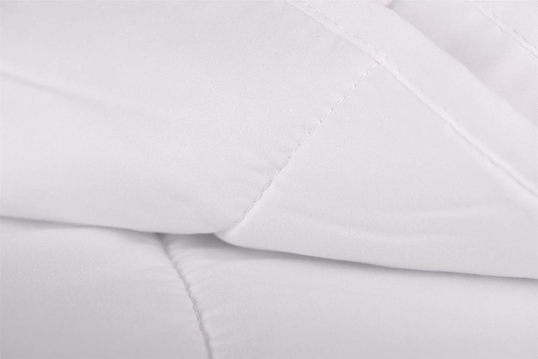150X200 Made in Italy HomeLife Piumone Imbottito in Poliestere Anallergico Rivestito in Microfibra Trapunta Primaverile per Letto Singolo a Una Piazza Piumino Bianco per Sacco o copripiumone