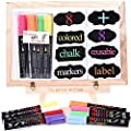 Liquid Chalk Markers - 8 Colored Window/Glass Pens + 8 Chalkboard Labels, Child Friendly from Uoline Ltd