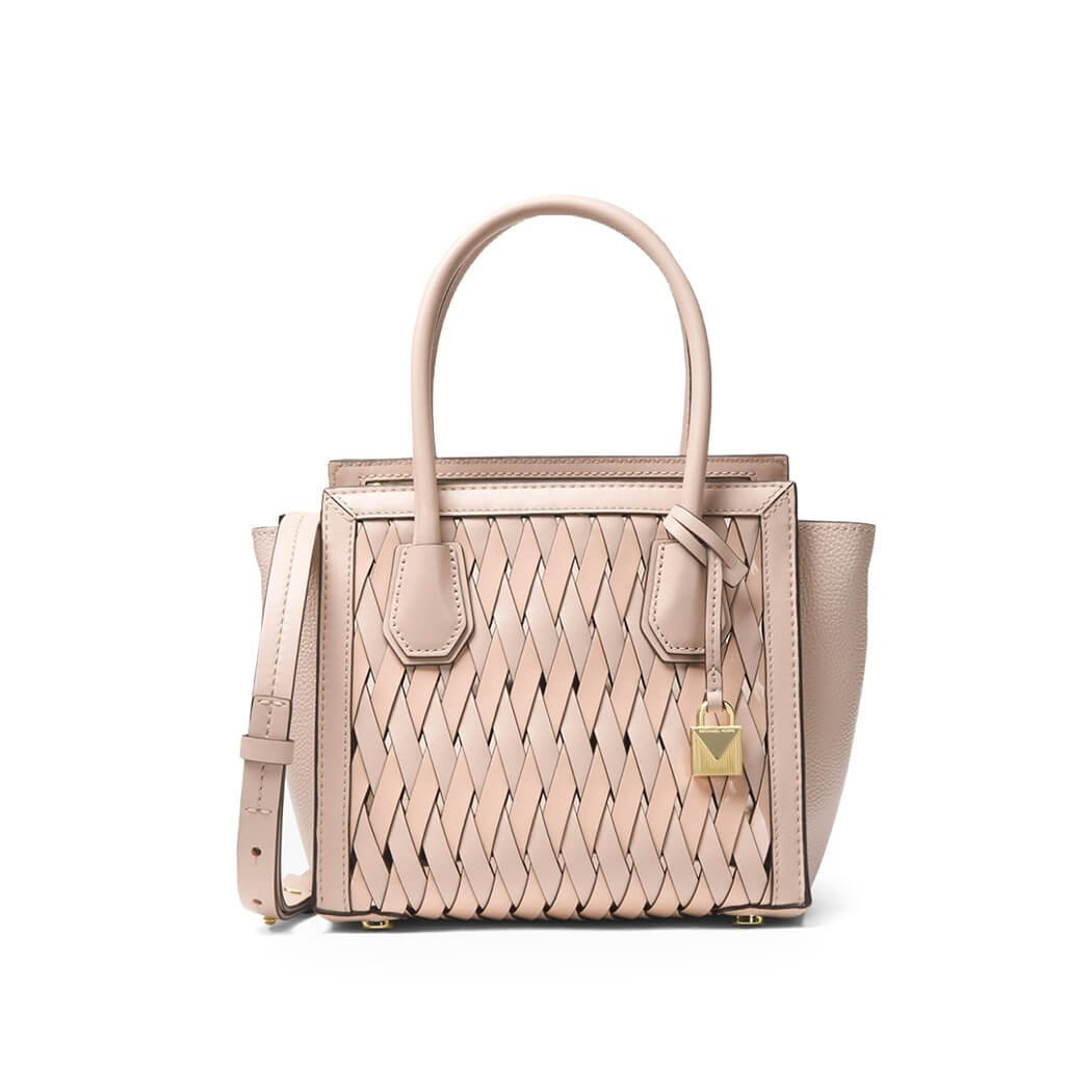 95bd412a7164 Women's Accessories Michael Kors Mercer Studio Soft Pink Woven Leather  Handbag Spring Summer 2018: Handbags: Amazon.com