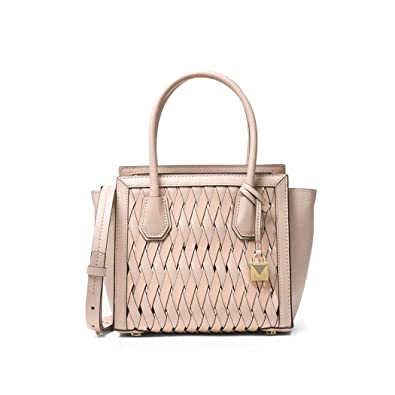 95bd412a7164 Women's Accessories Michael Kors Mercer Studio Soft Pink Woven Leather  Handbag Spring Summer 2018: Handbags: Amazon.com