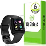 IQ Shield Screen Protector Compatible with Fitbit Versa (6-Pack) Anti-Bubble Clear Film