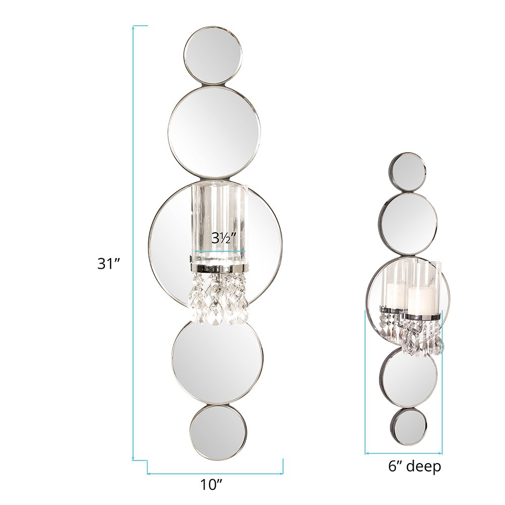 Howard Elliott Mirrored Wall Sconce Accent Piece, 31 x 10 Inch, 99042 by Howard Elliott Collection (Image #3)